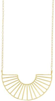 Ottoman Hands Odeon Gold Geometric Necklace