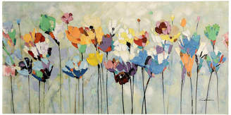 """Stylecraft Multi-Colored Floral Hand Painted Canvas, 56""""x28"""""""
