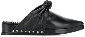 Toga Pulla Knot Front Stud Detail Mules