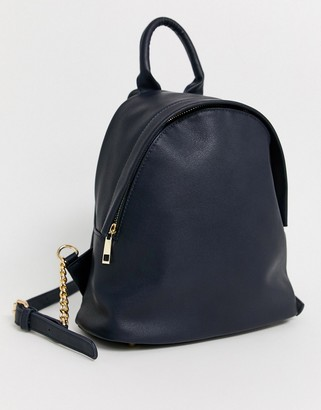 Truffle Collection Truffle navy zip backpack