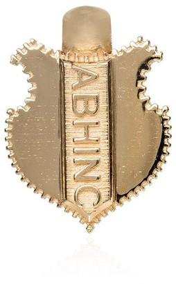 Foundrae 18kt yellow gold Ab Hinc shield charm
