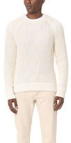 Vince Open Knit Crew Neck Sweater