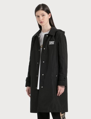 Burberry Detachable Hood Shape-memory Taffeta Car Coat