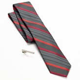 Apt. 9 Abaco Striped Skinny Tie & Tie Bar Set - Men