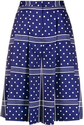 Jejia Polka-Dot Cropped Trousers