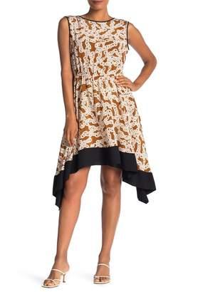 Diane von Furstenberg Talis Chain Print Silk Dress