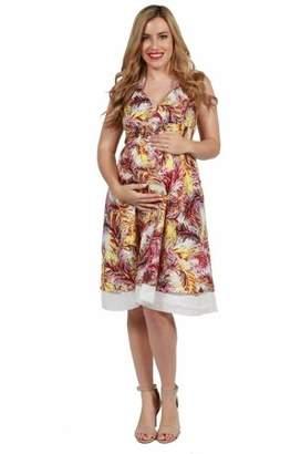 24/7 Comfort Apparel 24seven Comfort Apparel Knee Length Halter Cotton Maternity Summer Dress
