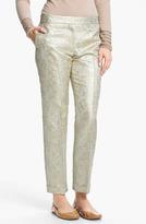 Tory Burch 'Lola' Metallic Silk Pants