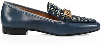 Tory Burch Jessa Print & Leather Loafers