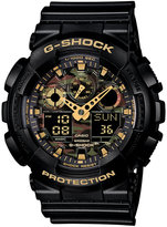 G-Shock Men's Analog-Digital Black Resin Strap Watch 55x51mm GA100CF-1A9
