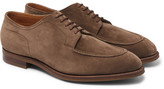 Edward Green Dover Suede Derby Shoes - Mushroom