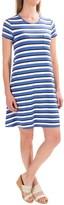 Antibes Blanc Striped T-Shirt Dress - Short Sleeve (For Women)