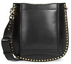 Isabel Marant Women's Oskan Studded Leather Hobo Bag