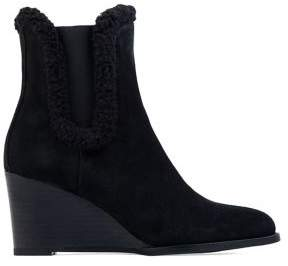 Andre Assous Sasha Suede & Shearling-Trim Booties