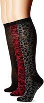 Steve Madden Women's Animal Knee High Sock 3 Pack