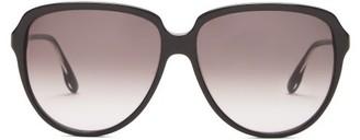 Victoria Beckham Oversized Round Acetate Sunglasses - Black