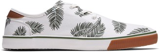 Toms White Palm Printed Canvas Men's Carlo Sneakers Topanga Collection
