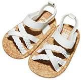 Carter's Girls' Baby Soft Sole White/Braided Sandal