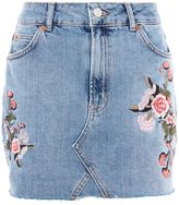 Topshop PETITE Blossom Embroidered Skirt