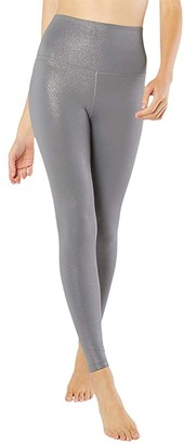 Beyond Yoga Twinkle High Waisted Midi Leggings (Stone Gray Gunmetal Twinkle) Women's Casual Pants