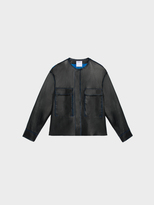 DKNY Lambskin Leather Jacket With Chest Pockets