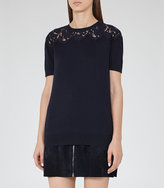 Reiss Dana Lace-Top Knit