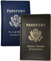 AG Jeans A&G Wallets Two Genuine Leather Travel Passport Cover With US Emblem