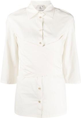L'Autre Chose Wrap Front Shirt