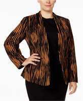 Kasper Plus Size Printed Jacket