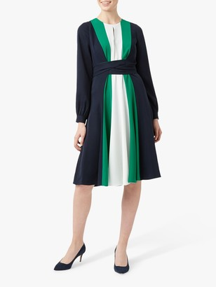 Hobbs Lyla Dress, Navy/Multi
