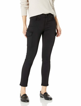 James Jeans Women's Twiggy Skinny Ankle Cargo Jean Black 28