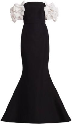 Alexia Maria Cornelia Trumpet Silk Gown