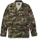 Saint Laurent - Appliquéd Camouflage-print Cotton-twill Parka