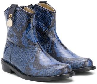 MonnaLisa Snakeprint Cowboy Boots