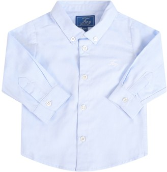 Fay Light Blue Shirt For Babyboy With Logo