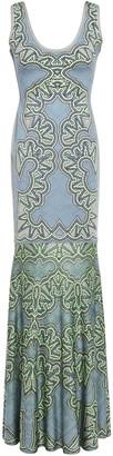 Herve Leger Jacquard-knit Bandage Gown
