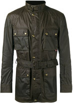 Belstaff wax belted jacket - men - Cotton/Polyester/Viscose - 46