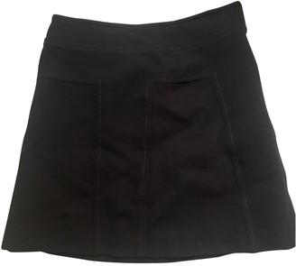 Tara Jarmon Burgundy Cotton Skirt for Women