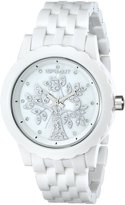 Sprout Women's ST/6807MPWT Tree Theme Dial White Corn Resin Swarovski Element...