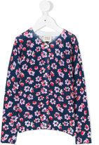 Armani Junior flower print cardigan