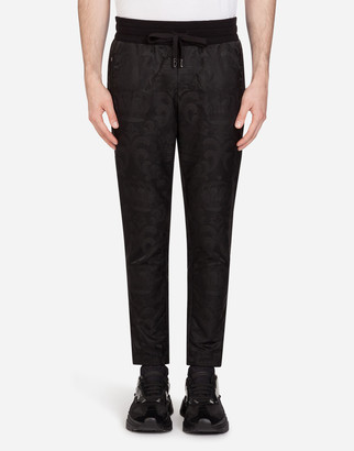 Dolce & Gabbana Jacquard Jogging Pants With Patch