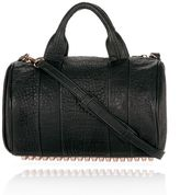 Alexander Wang Rocco In Black Pebble Lamb With Rosegold