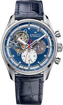 Zenith 03.2040.4061/52.C700 El primero 1969 stainless steel and alligator leather watch