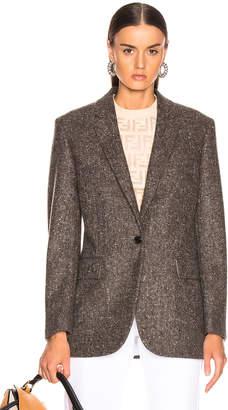 Calvin Klein Tailored Blazer in Sepia Grey Black | FWRD