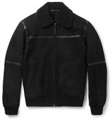 Ermenegildo Zegna - Slim-fit Leather-trimmed Shearling Jacket