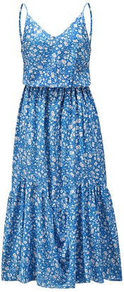 Goodnight Macaroon 'Jordan' V-Neck Floral Midi Dress (2 Colors)