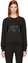 MSGM Black Box Logo Sweatshirt