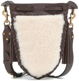 Isabel Marant Radja leather and shearling shoulder bag