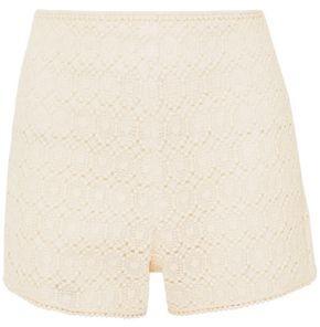 Philosophy di Lorenzo Serafini Cotton-blend Macrame Lace Shorts