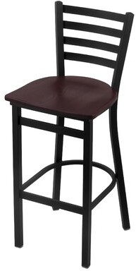 "Holland Bar Stool Jackie 25"" Bar Stool Upholstery: Dark Cherry Oak, Seat Height: Counter Stool (25"" Seat Height)"